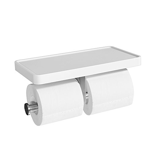 Double Toilet Paper Holder, CROWN Bathroom Tissue Paper Roll