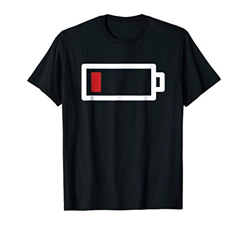 Funny Halloween 2017 Tshirt ideal for couples - Low Battery]()