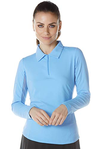 Solid Long Sleeve Polo - 81000 (L, Peri)