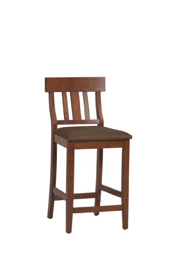Linon Home Decor Torino Collection Slat Back Counter - Chair Pub Slat Back
