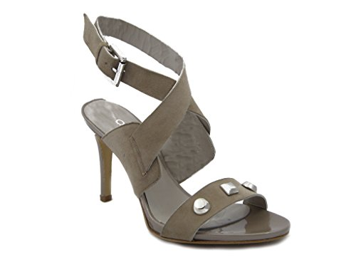 Fly Elegant Osvaldo hazards, Heel Shoes Suede with 9 cm and plateau 0.8 cm-Summer 174 Taupe