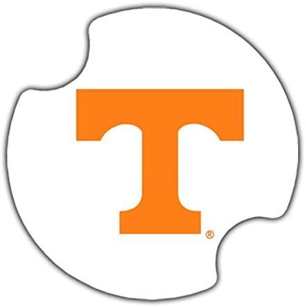 Pack of 4 NCAA Tennessee Volunteers Vinyl Coaster Set