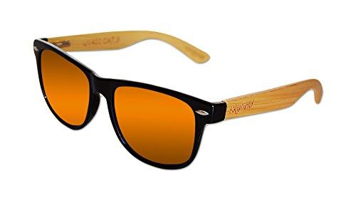 100 patillas de madera Shine Gafas protección con rayos de sol polarizadas y hombre Classic Sunset UV de del Black mujer de y Bamboo Sunglasses Skyfield p41aqTWZ