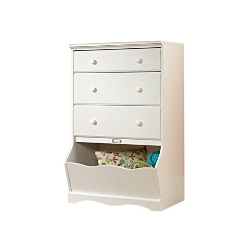 "Sauder Pogo 3-Drawer Chest, L: 30.08"" x W: 19.37"" x H: 47.01"", Soft White finish"