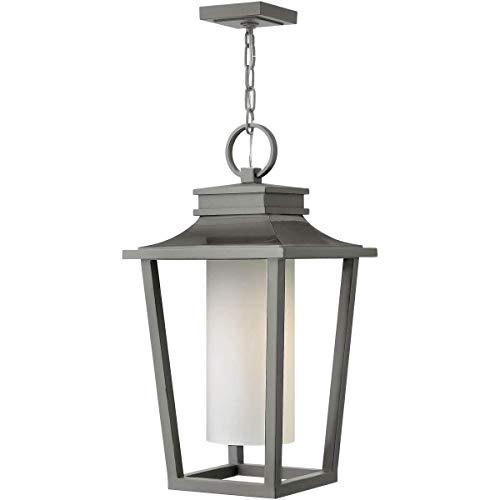 Outdoor Pendant 1 Light Fixtures with Hematite Finish Aluminum Material Medium Bulb 12