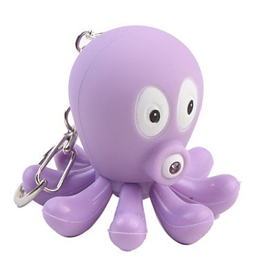 Flashlight - Octopus Keychain with LED Flashlight and Sound Effects, 2 Random Colors