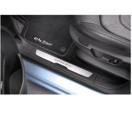 Citroen-Juego De 4 Tapacubos De umbrales De puerta delantera y trasera del coche De acero inoxidable: Amazon.es: Coche y moto