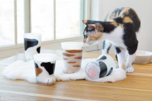 Aderia Japan coco neco Glass ''Big Calico Cat'' 6679