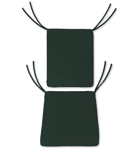 Weather-Resistant Outdoor Classic Rocker Chair Cushion in Forest Green