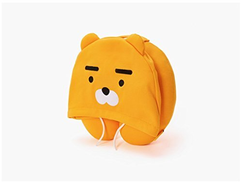 (Kakao Friends) Hoodie Travel Neck Pillow (Ryan- Brown)