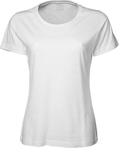 Tee Jays - Camiseta - Manga corta - para mujer blanco