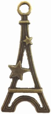 【HARU雑貨】金古美 チャーム 1個/塔 タワー 星 スター/アクセサリーパーツに ハンドメイド