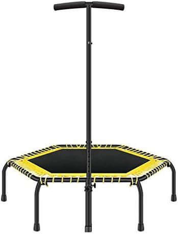 QZ トランポリン フィットネススポーツ 調節可能なハンドル 安定した安全 ジャンプベッド 折りたたみ式ポータブル カーディオワークアウト