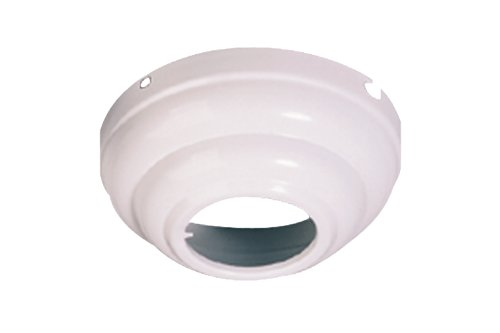 Monte Carlo MC95WH Ceiling Fan Slope Ceiling Adapter, White by Monte Carlo