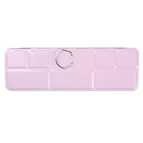 MEEDEN Empty Watercolor Tins Box Palette Paint Case, Medium Pink Tin with 24 Pcs Half Pans