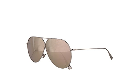 Christian Dior DiorStellaire 3 Sunglasses Palladium w/Multilayer Gold Lens 65mm 010SQ DiorStellaire3 Dior Stellaire 3 (Christian Dior Gold)