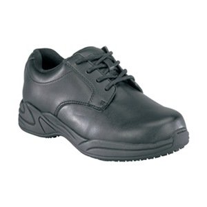 Work Shoes, Pln, Womens, 8-1/2W, Black, 1PR by Grabbers