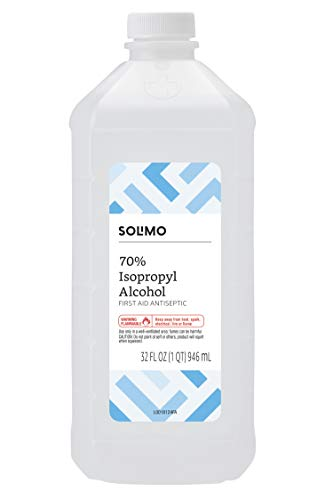 Amazon Brand - Solimo 70% Isopropyl Alcohol First Aid Antiseptic for Treatment of Minor Cuts and Scrapes, 32 Fluid Ounce (Best Cheap Alcohol Bottles)