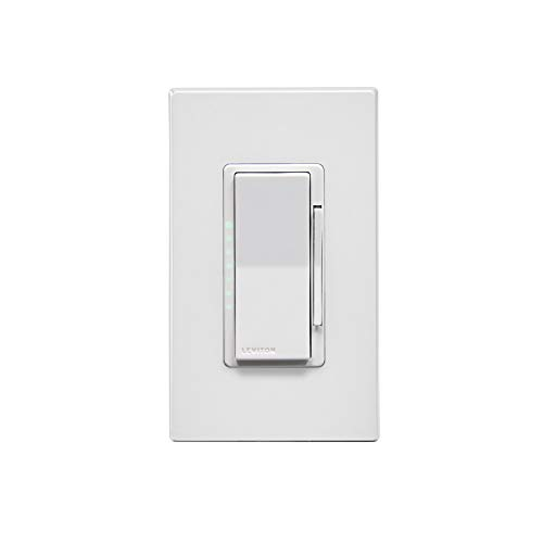 Leviton DW6HD-1BZ Decora Smart Wi-Fi 600W Universal LED/Incandescent Dimmer, Works with Amazon Alexa, No Hub Required, 1…