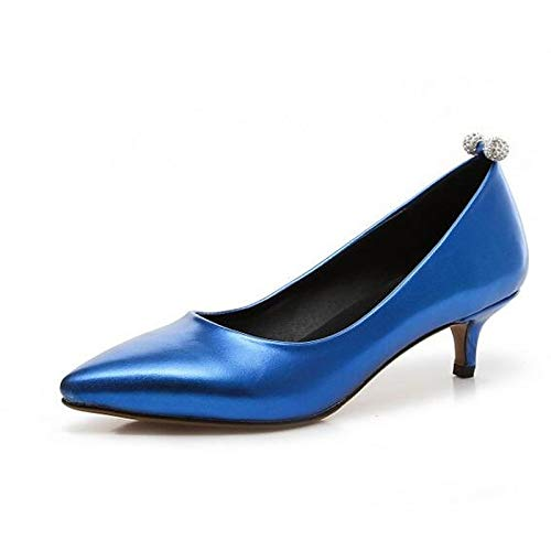 ZHZNVX Heel Blue Basic Shoes Blue Polyurethane Pink Women's Stiletto PU Red Pump Heels Spring g4wrgq