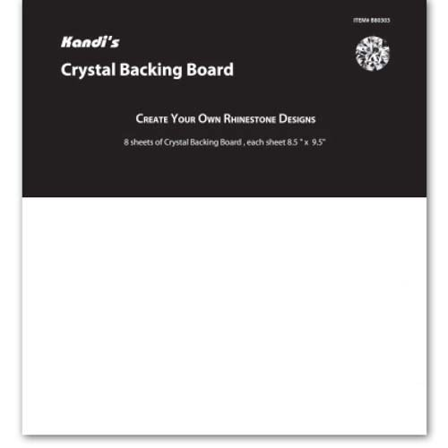 Crystal Backing Board 8 Sheets 8.5 x 9.5 Create Your Own Rhinestone Designs Kandis by Alora Company