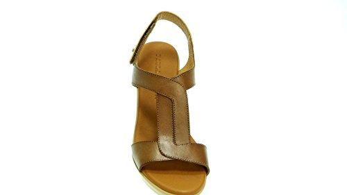 Cierre 8457 Velcro 7 Paula Urban cm Sandalia Tacon Piel 12 1Cx8nPO
