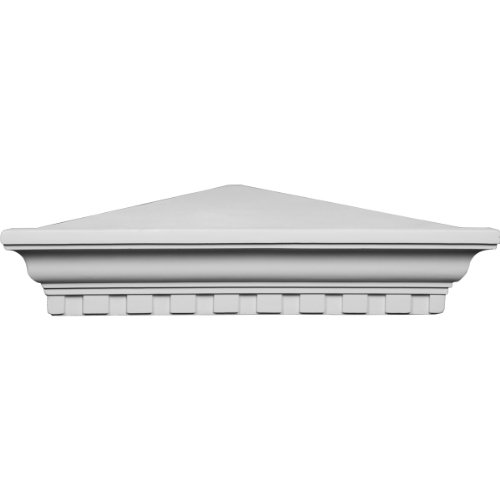 Ekena Millwork SH23X16X05DE 22 3/4-Inch W x 16 1/4-Inch P x 4 5/8-Inch H Dentil Corner Shelf