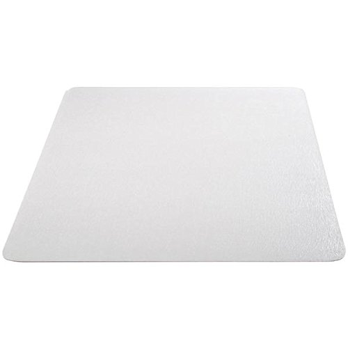 Deflecto EconoMat Clear Chair Mat, Hard Floor Use, Straight Edge