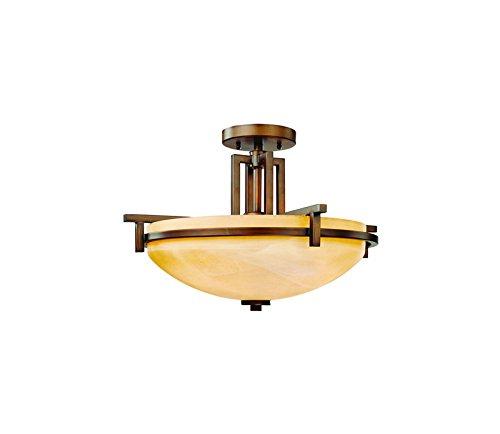 (Dolan Designs 2815-133 3Lt English Bronze Roxbury 3 Light Semi Flushmount,)