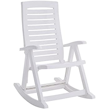 Brylanehome Foldable Rocking Chair (White,0)