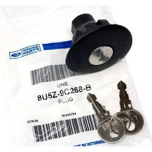 2009-2014 Ford F-150 & Mustang Locking Fuel Gas Cap Plug Lock & Keys OEM Genuine 8U5Z-9C268-B