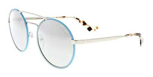 - Prada Women's 0PR 51SS Silver/Azure/Light Grey Mirror Gradient Silver One Size
