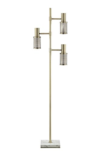 Catalina Lighting 20607-000 Dash LED Brass Track Tree Floor Lamp with Marble Base, large, (Track Tree Floor Lamp)