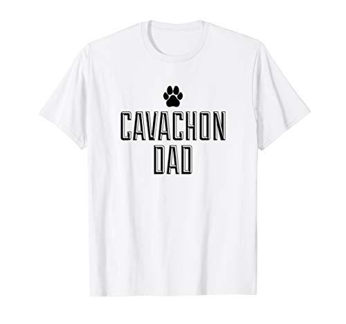 Cavachon Dad Paw Print Graphic T-Shirt