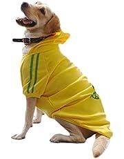 Eastlion Grote Hond Warm Hoodies Jas Kleding Sweater Pet Puppy T Shirt,Geel,5XL