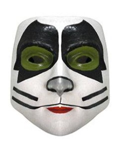 KISS Catman Half Mask Adult Halloween Costume Accessory