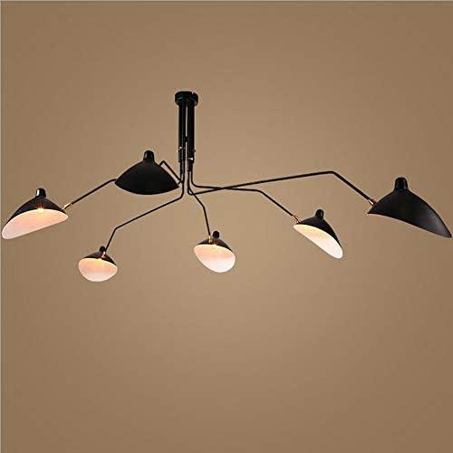 L.HPT 3 5 6-light Simple Pendant Lights Ceiling Indoor Lighting Vintage Retro Lamp for E27 Bulbs Room Bar Decoration Bulb Not Included ,6light