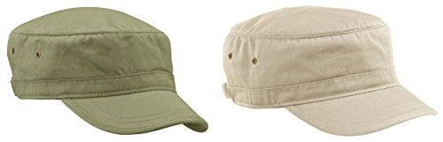 Imported Jungle Hat - Econscious Men's Organic Cotton Twill Corps Hats Set_JUNGLE & OYSTER_OS