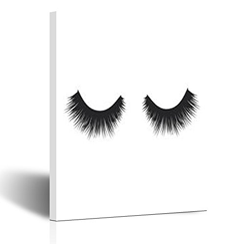 Canvas Prints Wall Art for Living Room Eye Lashes Beauty Fashion Eyelash People Makeup 8x10 Inches Painting Artwork Framed Stretched Decoration Ready to Hang ()