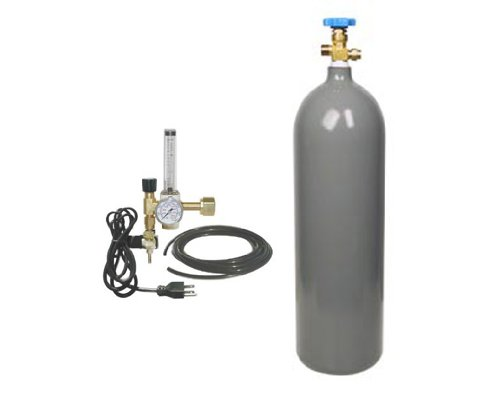 Flora Hydroponics 20lb CO2 Tank & CO2 Regulator Kit for rooms under 10ft x 10ft by Flora Hydroponics