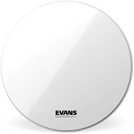 Evans BD26RSW-NP Glattes weißes EQ3 Resonanzfell für Bassdrums, keine Mikrofonöffnung, 66,0cm