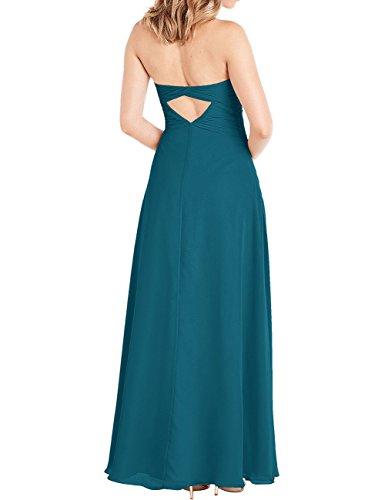 Dress Bridesmaid Backless Prom Chiffon Summer Red ASBridal Pleated Dresses Long Cagx8qw