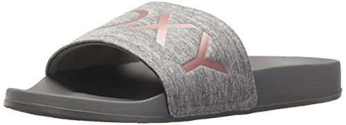 Grey Roxy Slide Slippy Sandal Textile Sport Women's 4fwSqfYU