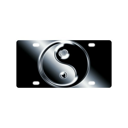 "12"" X 6"" Unique Yin Yang Symbol image Metal Car License Plate Great Decorator Piece"