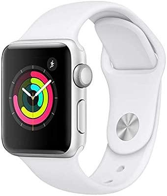 Apple Watch Series 3 (GPS) con caja de 38 mm de aluminio en plata y correa deportiva - Blanca