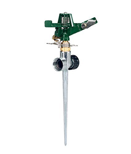 Orbit 58019N Zine Impact Sprinkler with Zinc Flow-Thru Spike (Renewed)