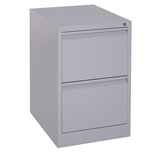 "(Vinsetto 28"" Metal 2 Drawer Locking Under Desk Filing Cabinet - Grey)"