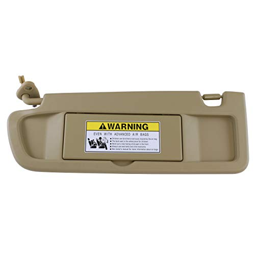 IAMAUTO 52815 Driver Left Pearl Ivory Tan Sun Visor for 2006 2007 2008 Honda Civic ()