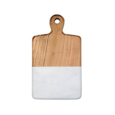 Artisanal Kitchen Supply 13-Inch Acacia and Marble Cheese Board