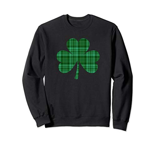 Green Buffalo Plaid Shamrock St Patrick's Day Sweatshirt